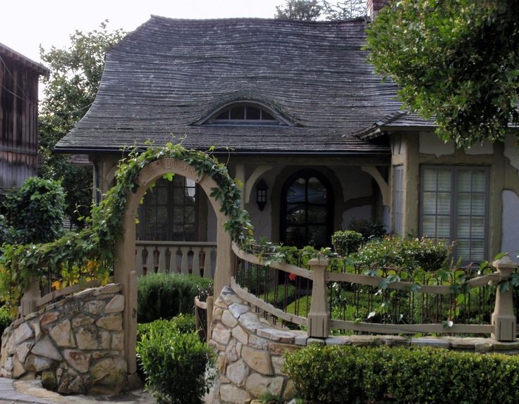 Typically tudor or english cottage style homes have a for English tudor cottage