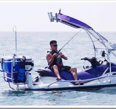 This jet ski is set up for just about anything! #Boat #toys -- #Fishing Jet ski!