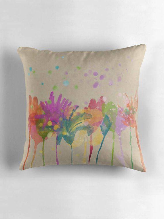 beige pillow decorative pillow modern home decor watercolor rh pinterest com