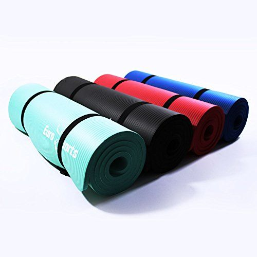Eurosports 1 2 Inch Extra Thick 72 Inch Long Nbr Eco Friendly Non Toxic Foam Yoga Mat With A Carrying Strap For Yoga Pilates And Exercis Yoga Mat Pilates Yoga