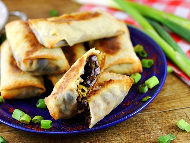 Black Bean and Cheddar Burrito Rolls