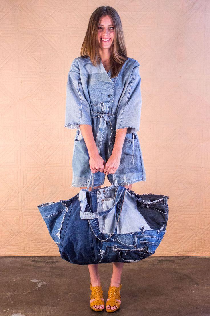 Silkea Bag #SilkDenim #women's fashion #upcycle denim #vintage #denim #one-of-a-kind