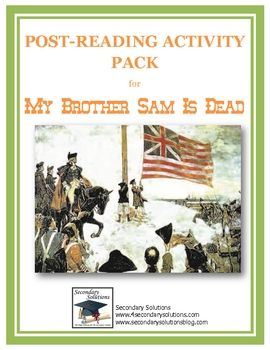 "what is the thesis of my brother sam is dead Using the revolutionary war novel my brother sam is dead as a whole class read aloud, while completing the ""valley forge: making dbq work in middle school."