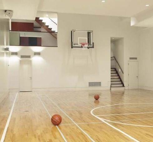 20 best images about basketball court on pinterest for Build indoor basketball court