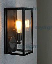 Накаливания узкий стены бра лофт настенный светильник американский страна бра металлические лестницы belcony бар отеля лобби старинные стеклянный ящик