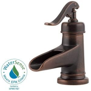 Waterfall Bathroom Faucet in Rustic Bronze at The Home Depot for master bathroom