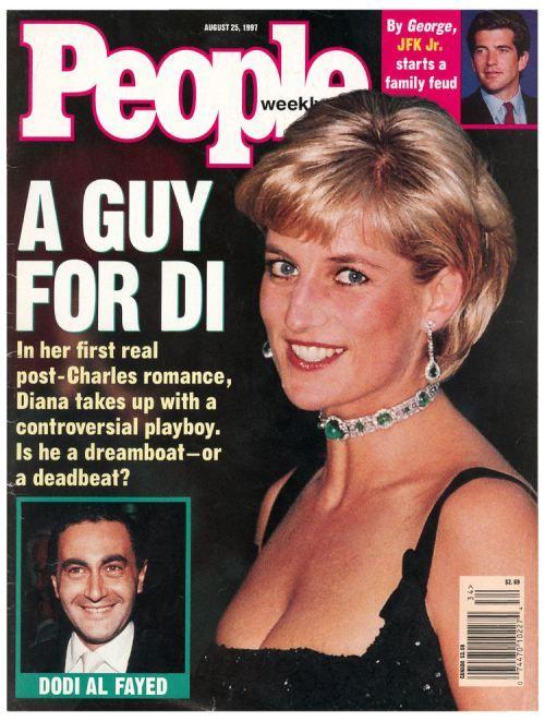 Princess Diana of Wales and Dodi Al Fayed on People magazine, 1997