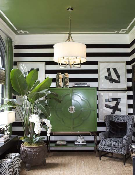 The Designer Showhouse of Westchester is spectacular. Loving the horizontal striped wall treatment