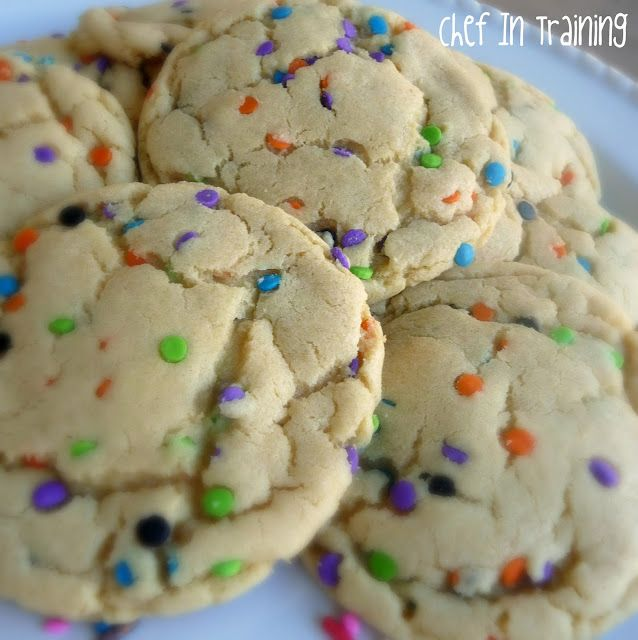 Cake batter pudding cookies. I'm literally salivating!