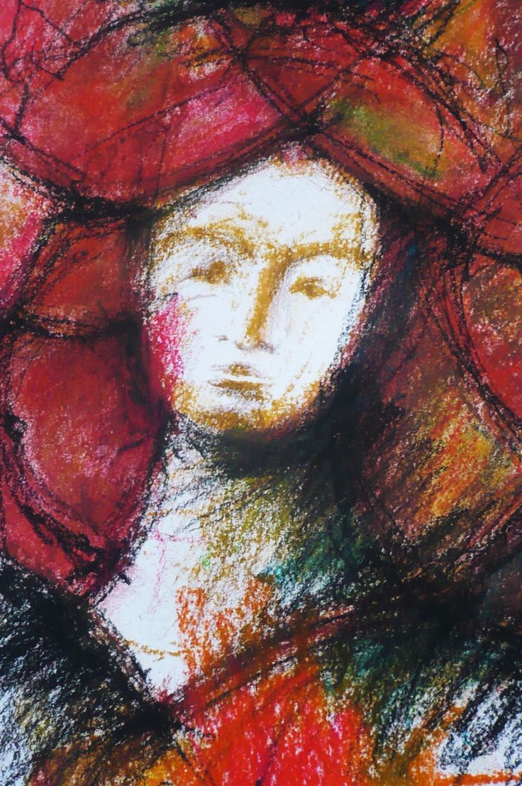 The lost QUEEN,abstract, soft pastel, Miriam Javorková