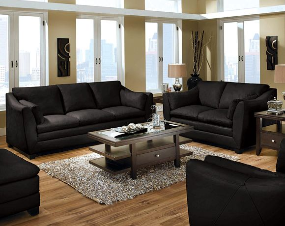 Best 25 black leather couches ideas on pinterest living for Black couch living room