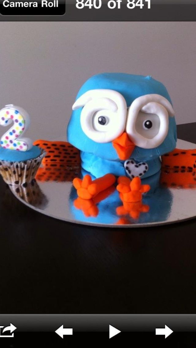 James' 2nd Birthday cake. 'Hoot' from ABC4Kids Giggle & Hoot.