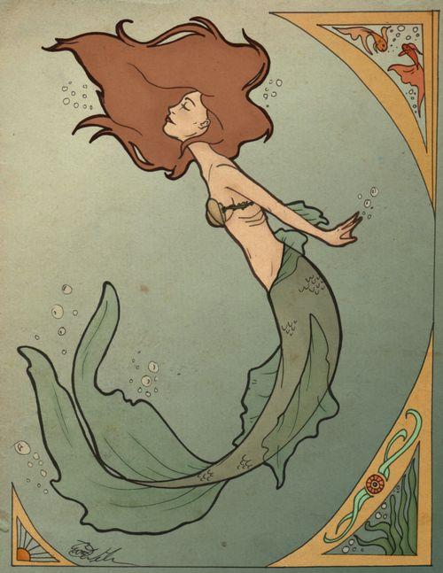 Poster/Prent Jugendstil(-stijl) Vrouw