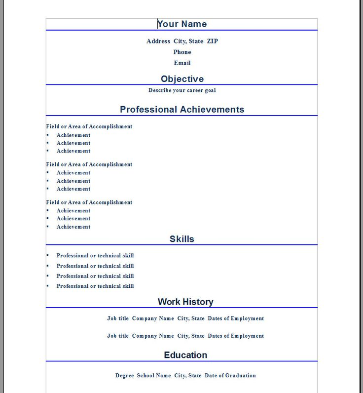 Professional Resume Template For Word - http://www.resumecareer.info/professional-resume-template-for-word/