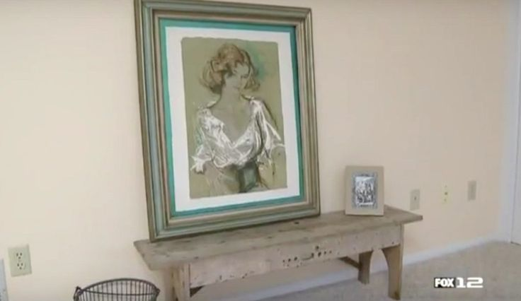 Recovering Hidden Treasures from Dismantling Spare Room - Organizing will help you uncover your treasures and bring them to life in your home so you can actually enjoy them. Our client had this paiting for 10 years waiting to be framed.