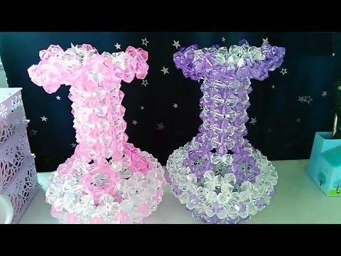 水晶珠串 趣味小物 大花瓶 1/3 - YouTube