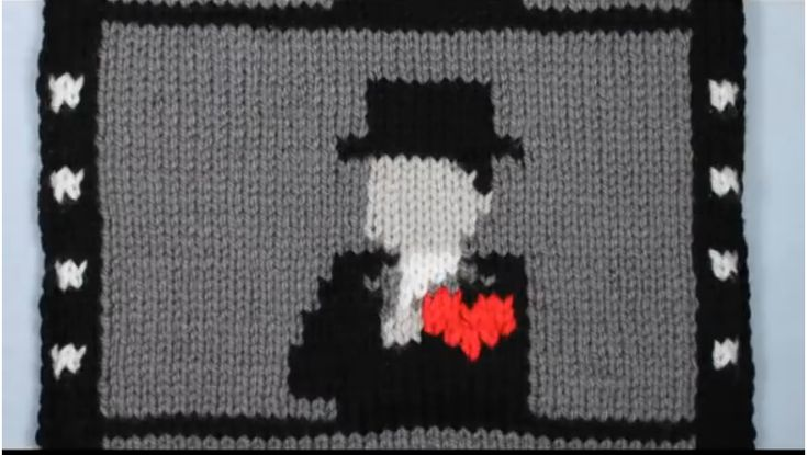 """Film Muffler"" - knitted silent film and stop motion love story. #silentfilm #knitting #knithacker #stopmotionKnitted Scarves, Film Muffler, Silent Film, Miho Yata, Knits Scarves, Animal Create, Long Knits, Film Animal, Silentfilm Knits"