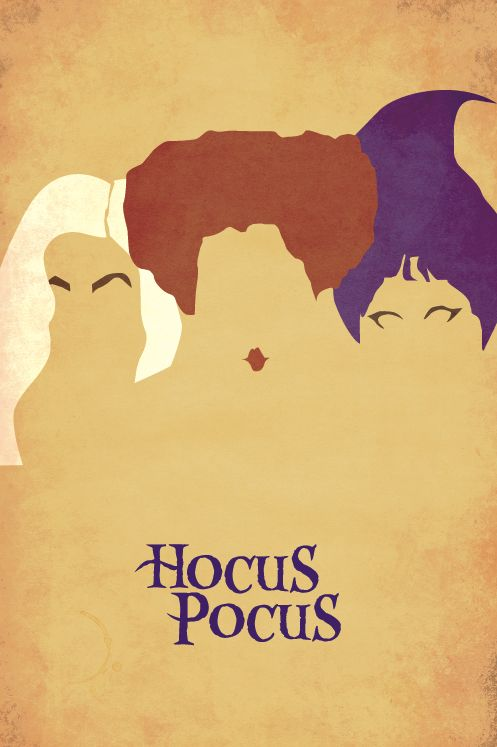 Hocus Pocus | Poster Movie poster for the SUUSA on campus. Movie showing in the theater that is an exact replica of Shakespeare's Globe Theater. Scary fantastic.