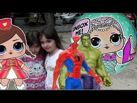 Lol Bonecas Surpresas Surprise Dolls Homem Aranha Hulk bonecos Marvel  P...