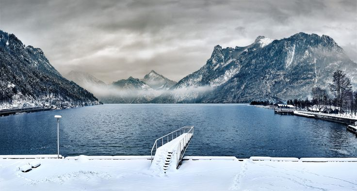 xxl - pool  Cold snowy day —  Lake looking like a pool.  How many lengths can u make?    #snow #winter #ice #mountain #cold #frozen #landscape #scenic #snowy #nature #panoramic #sport  #fit  #fitness #frost  #sky #outdoors #travel #traveling #visiting #instatravel #pool #magical #traunsee #austria #traunstein #amazing