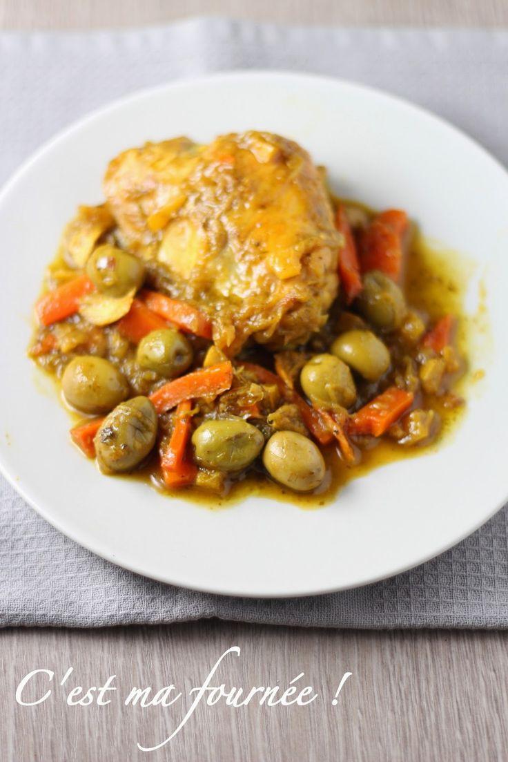 Le poulet aux olives