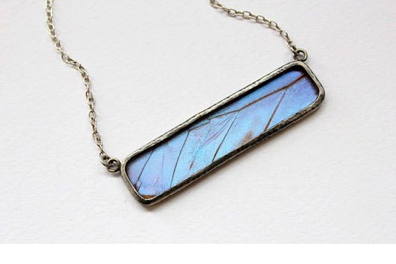 Check out this item in my Etsy shop https://www.etsy.com/uk/listing/512949258/butterfly-wing-jewelry-insect-gift
