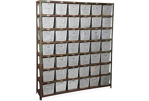Steel Gym Locker Shelves