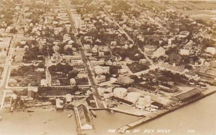 aerial view old Key West