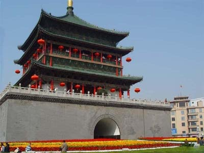 Bell Tower in Xian, China.