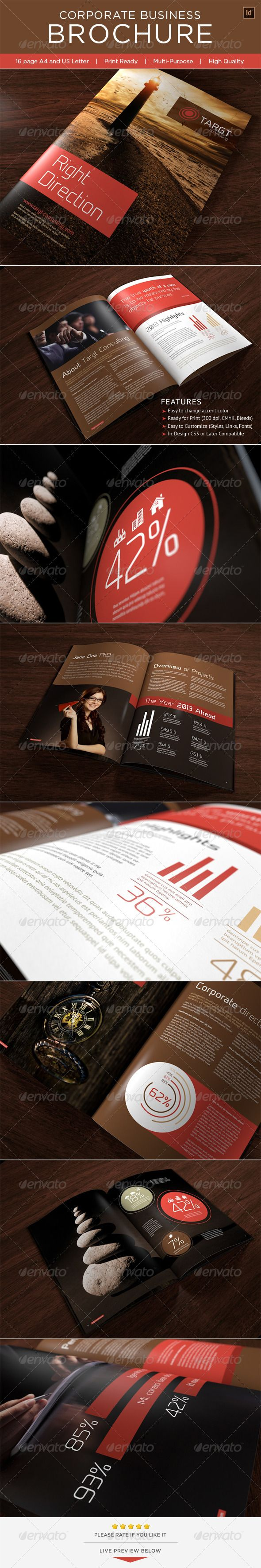 Professional InDesign Corporate Business Brochure Template • Only available here ➝ http://graphicriver.net/item/corporate-business-brochure/3551142?ref=pxcr