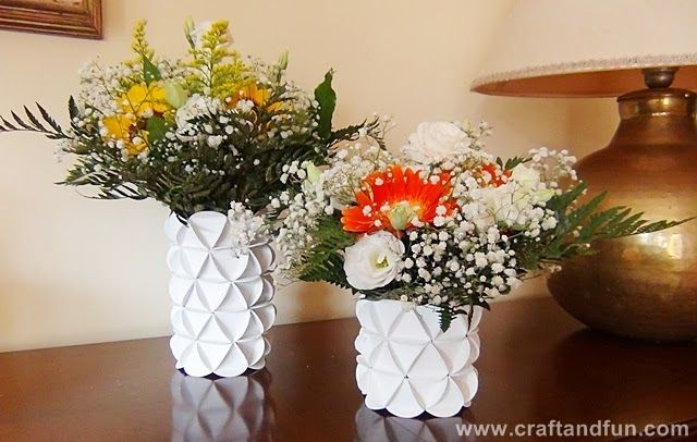 comment faire un vase en carton cartonnage pinterest cercles sprays et cr atif. Black Bedroom Furniture Sets. Home Design Ideas