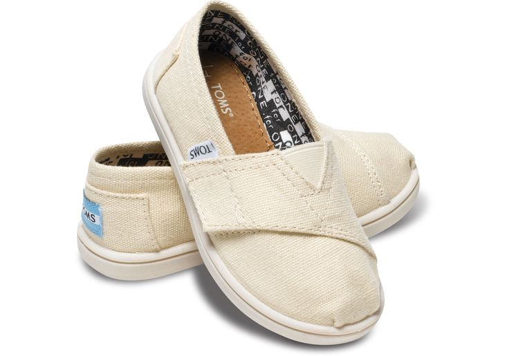 Natural Canvas Tiny TOMS Classics | TOMS