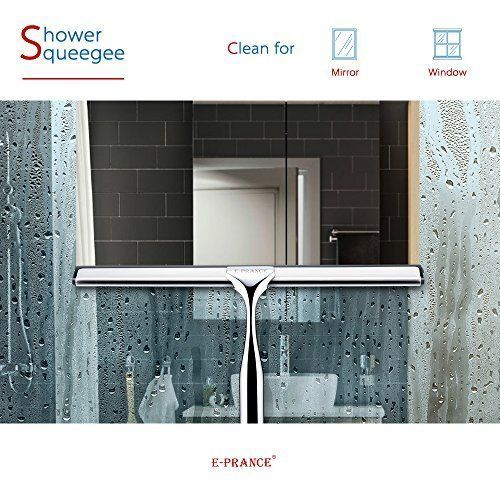 Home Mirror Wiper Shower Window Squeegee Deluxe Stainless Steel Glass Clean #EPRANCE