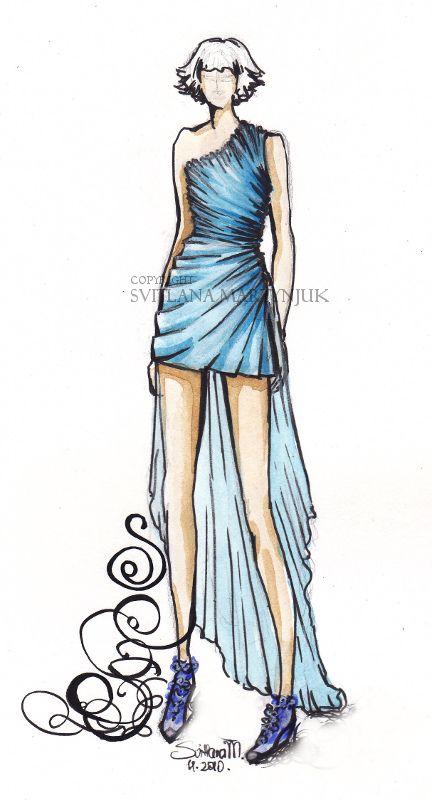 Fashion Drawings Dresses Easy