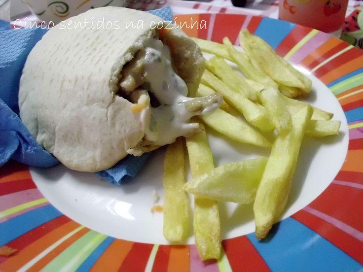 Cinco sentidos na cozinha: Pita shoarma de frango