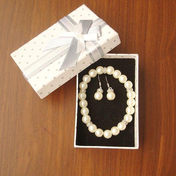 Popular Pearl Bracelet and Earrings Bridal Bridesmaid by RBJohnson, $26.50