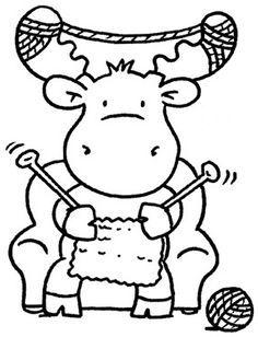 moose knitting clip art - Google Search