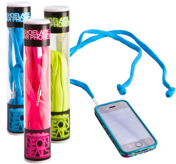 Neon Beats Shoelace Earphones from MDI merge style colour and sound, into one impressive package