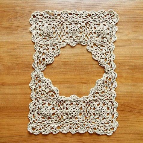Вязание крючком + ткань. (Идеи из интернета)
