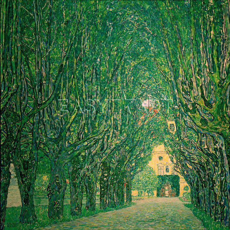 Avenue in the park of Schloss Kammer, 1912