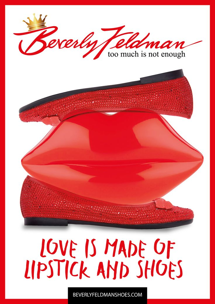 If you are looking for Love, add more lipstick and a pair of Beverly´s Red Sparkles. An exclusive web design, not offered anywhere else except here: http://beverlyfeldmanshoes.com/bal…/sparkle-red-crystal.html  Be naughty with red shoes! And Happy Valentine's Day of course! #redshoes #design #saintvalentin #love #red #diamonds #bling #crystal #bailarinas #valentine