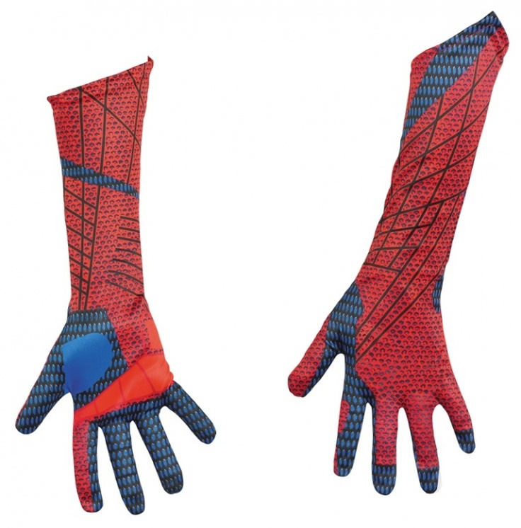 E wants a new spiderman costume with Spiderman Gloves