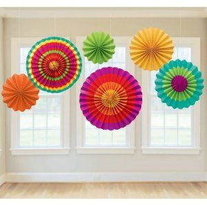 Amazon.com : Fiesta Paper Fan Decorations : Childrens Party Decorations : Toys