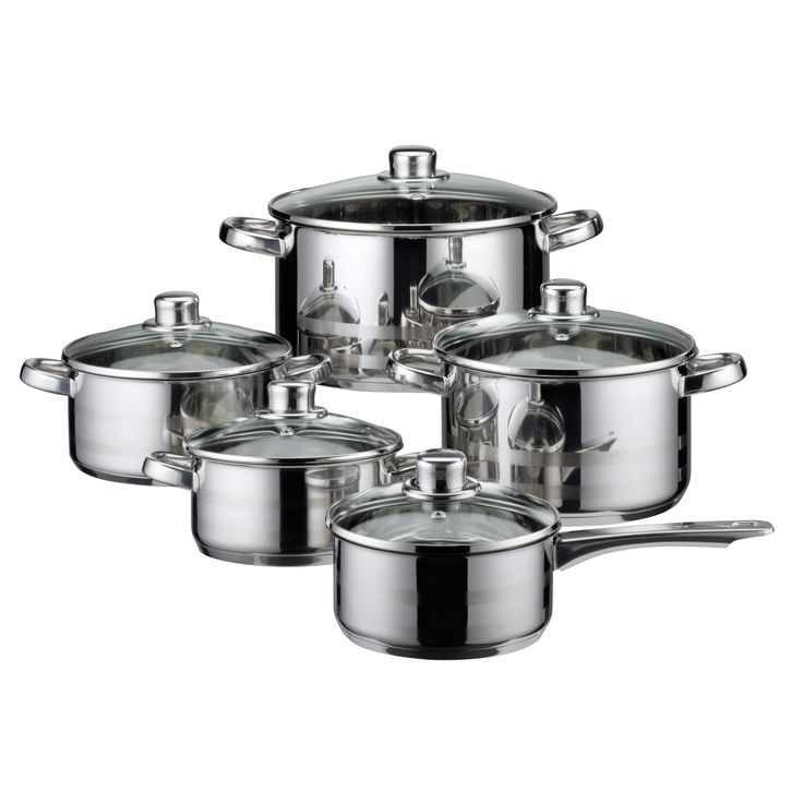 Elo Germany Skyline Stainless Steel (Silver) Induction Cookware Set, 10 Piece #ELO