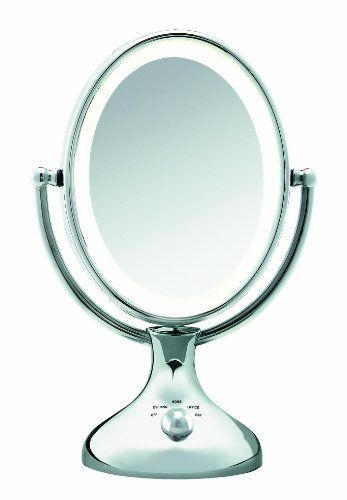 conair be18lcx double sided lighted makeup mirror polished chrome. Black Bedroom Furniture Sets. Home Design Ideas