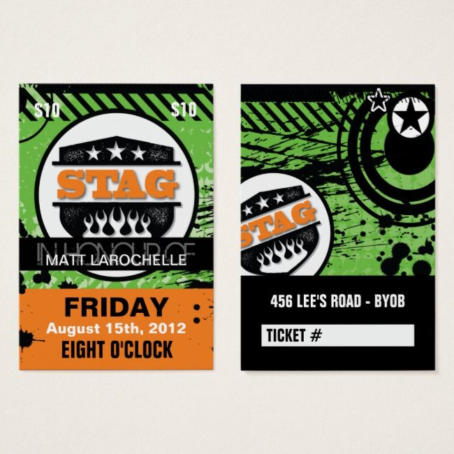 Create Your Own Profile Card Zazzle Com Prom Tickets Ticket Design Stag Shop