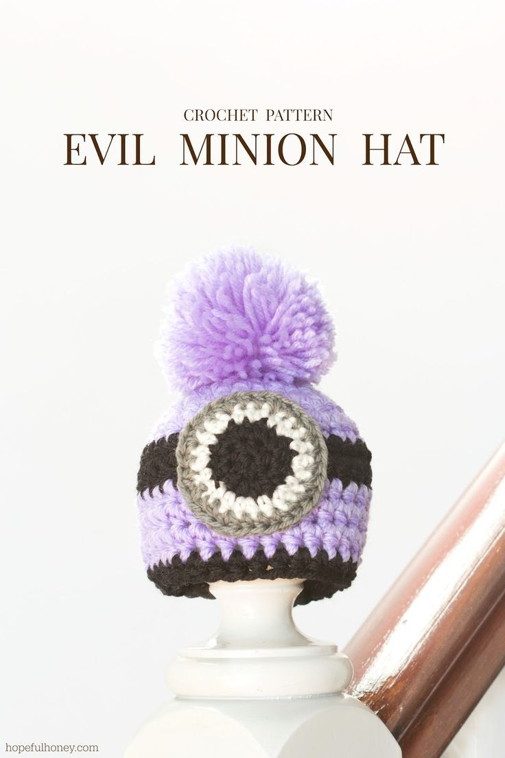Hopeful Honey | Craft, Crochet, Create: Newborn Evil Minion Inspired Hat Crochet Pattern.