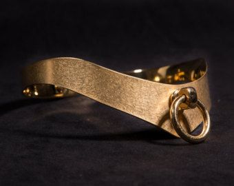 gold plated stainless Steel collar BDSM Story of O Neck Corset Choker  with Ring of O slave collar maid servant Sub Metall Geyer 999er