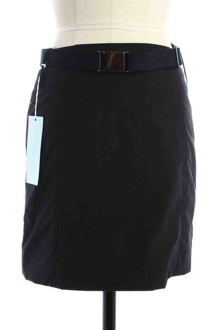 Check out NWT Strenesse Blue Black Belted Down Mini Skirt on Threadflip!