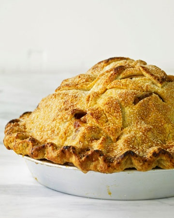 """One of the All-American Recipes, Mile-High Apple Pie, from Martha Stewart's new book, """"Martha's American Food"""""""